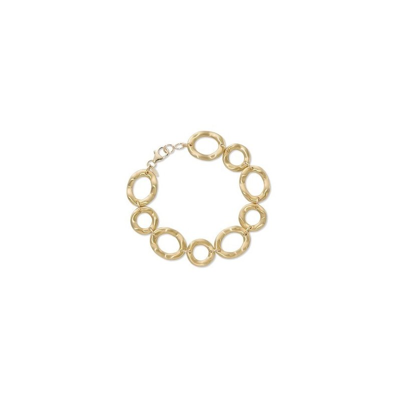 Unusual  Oval And Round Wavy Bracelet