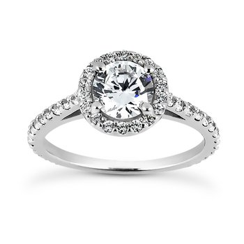 White 14 Karat Ring With 52 Round Diamonds=0.64Tw G/H Si