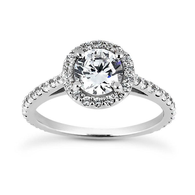 White 14 Karat Ring With 52 Round Diamonds=0.64Tw G/H Si