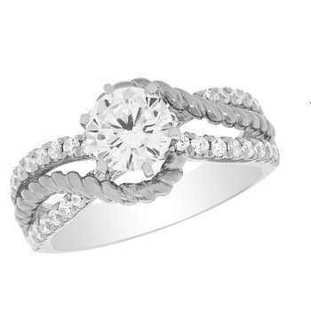 14 Karat Petite Cufving Diamond Mounting and Band