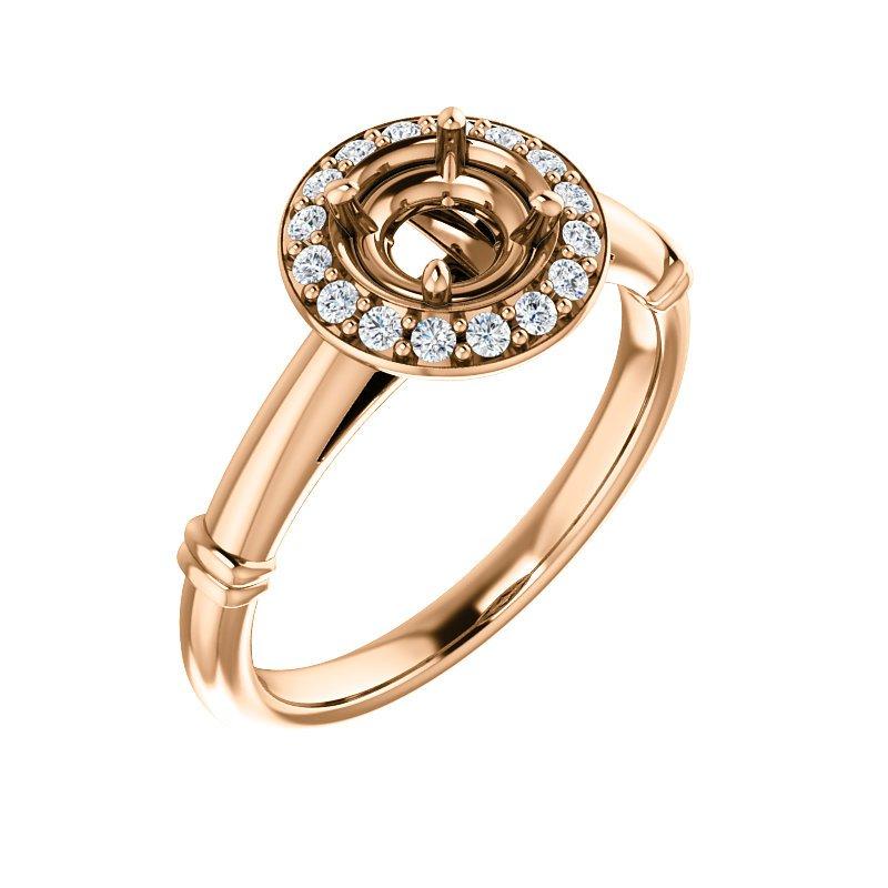 Rose 14 Karat Ring Mounting