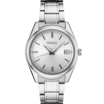 White Stainless Steel Quartz Seiko Watch