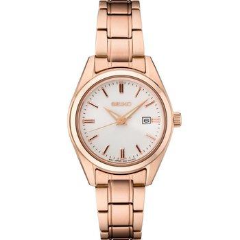 Ladies Rose Stainless Steel Seiko Quartz Watch