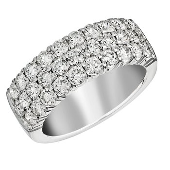 Fabuloius 1 cttw Three Row White Diamond Band