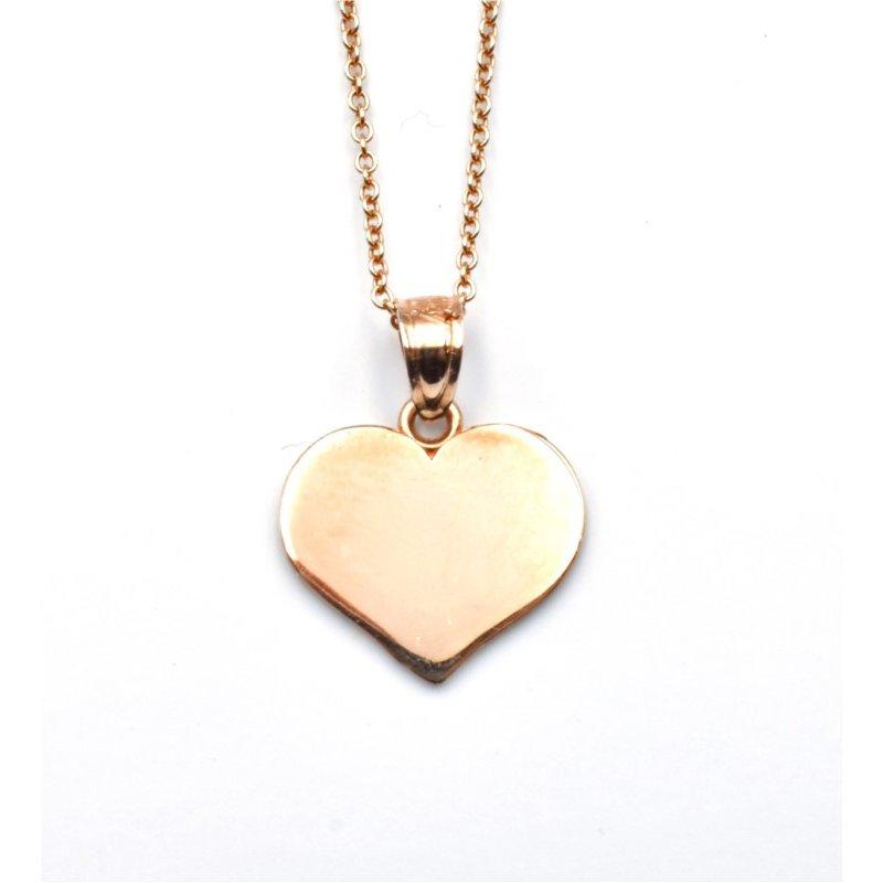 Rosé 14 Karat Heart Pendant