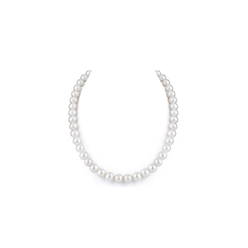 """9 - 10 m.m. Freshwater Pearl Necklace, 18"""""""