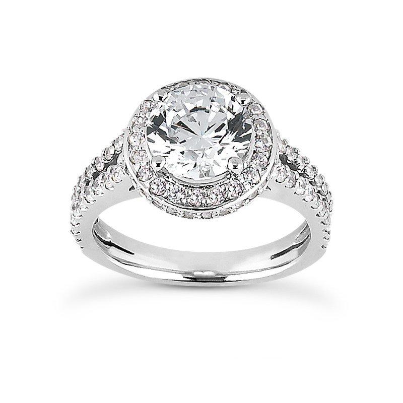 White 14 Karat Ring With 102 Round Diamonds=0.63Tw  G/H Si