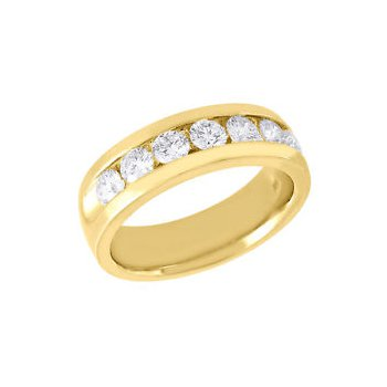 14 kt Yellow Gold Channel Set Diamond Band