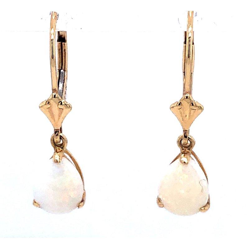 Fiery Drop Opal Earrings