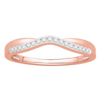 14 kt Rose Gold Curved Diamond Band