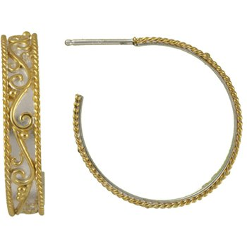 Timeless Scroll Medium Hoop Earrings