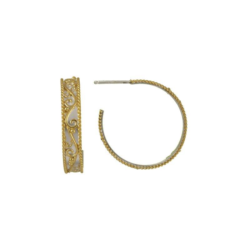 Timeless Scroll Medium Hoop Earrings