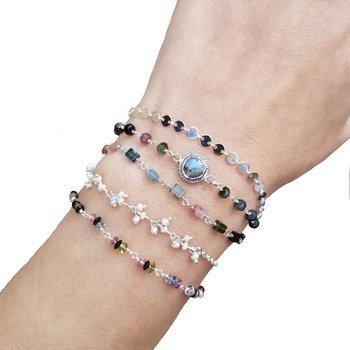 Versatile multi-gemstone necklace or bracelet