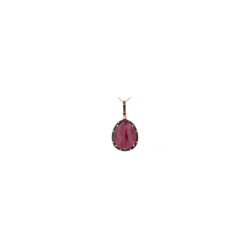 Absolutely Unique Ruby and Diamond Pendant
