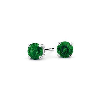 4 mm Emerald Stud Earrings