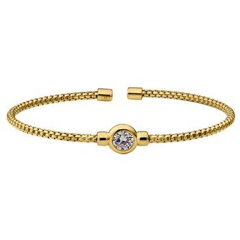Yellow Sterling Silver Flex Bracelet