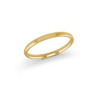 Yellow 14 Karat 2 Mm Band Size 5