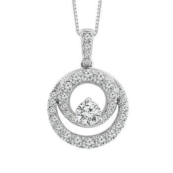 Double Circle Diamond Pendant
