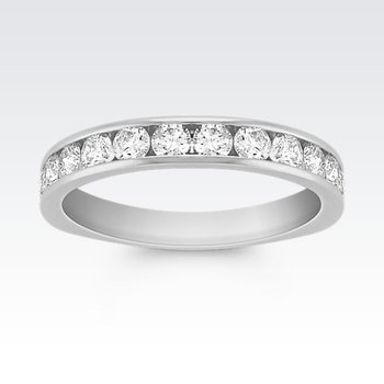 Platinum Diamond Band with Round diamonds