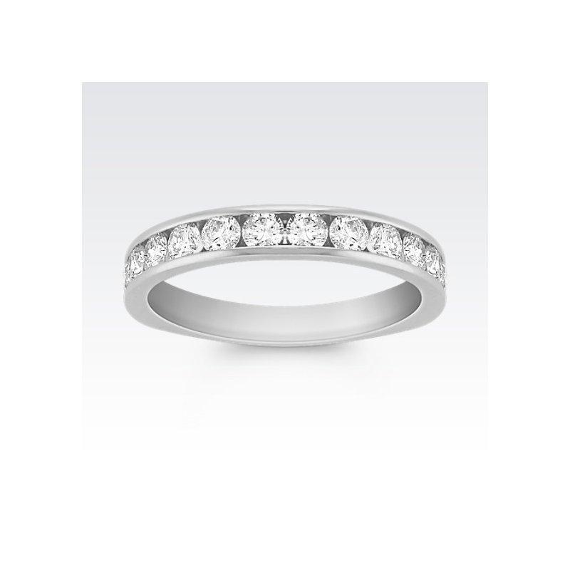 Platinum Diamond Band with Round diamonds