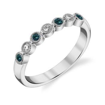 14 Karat White Gold Alexandrite and Diamond Ring