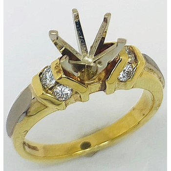 18kt White and Yellow Gold with Channel Set Diamonds