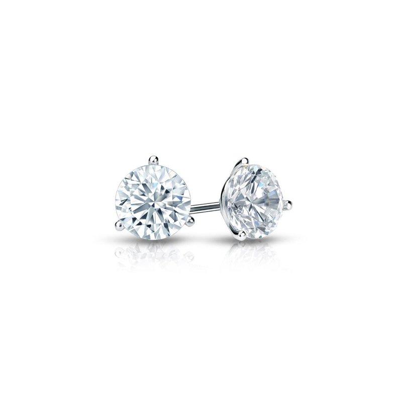 14 Karat Stud Earrings With 2=0.20Tw Round G/H Si Diamonds