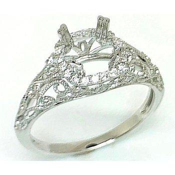 White 14 Karat Ring Mounting