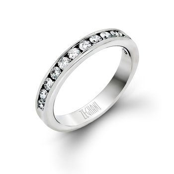 14kt White Gold Channel set Diamond Band