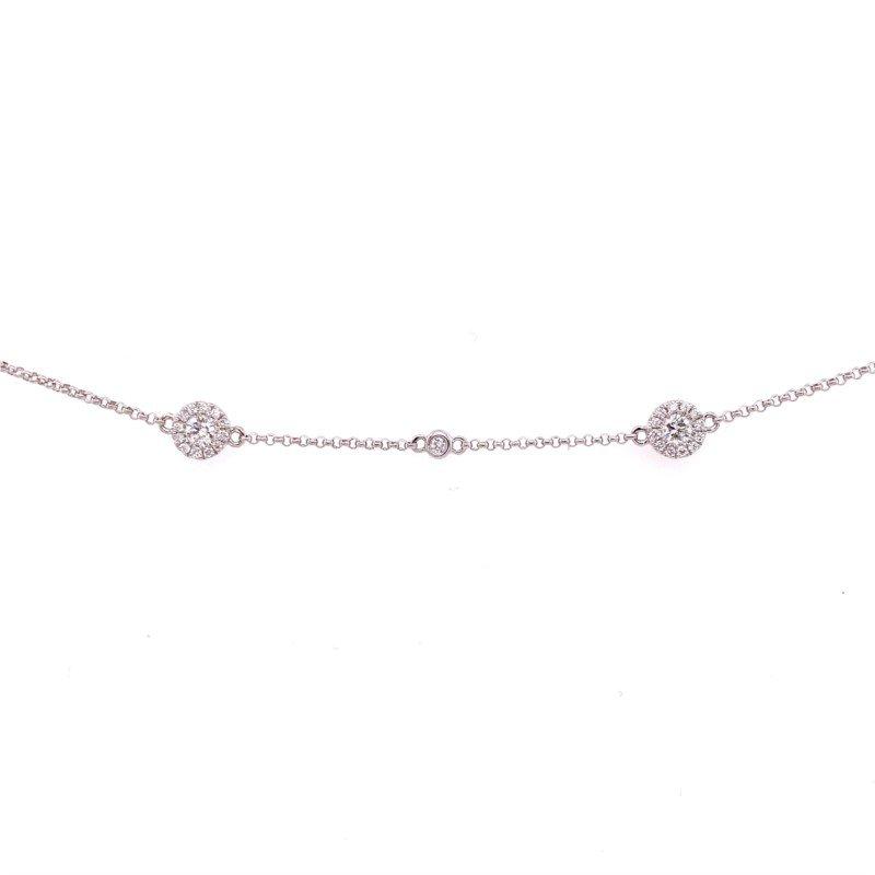 Diamond Bracelet Halo design