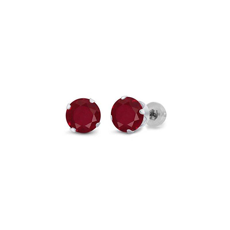Classic Ruby Stud Earrings