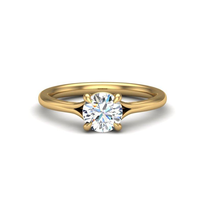 14 Karat Cathedral Ring Mounting