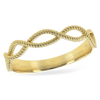 Yellow 14 Karat Twisted Band