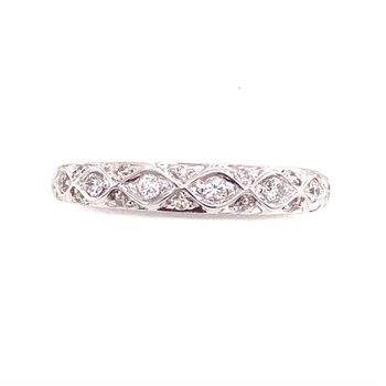 Wave design Diamond set Rings