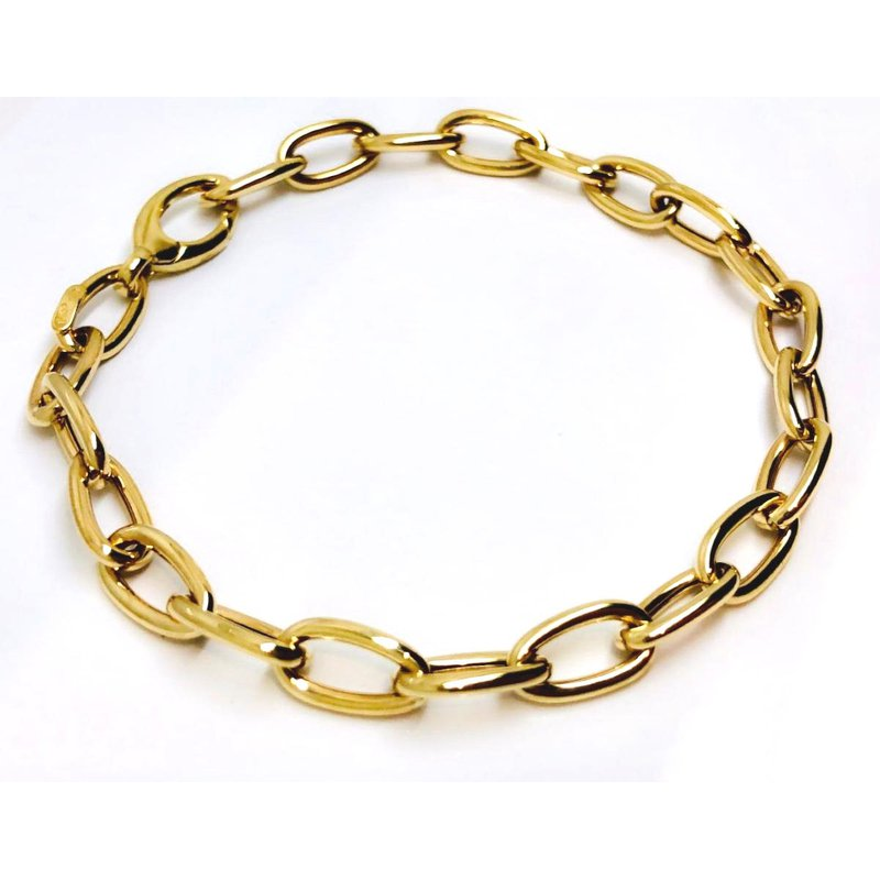 Yellow Gold Oval Link Bracelet