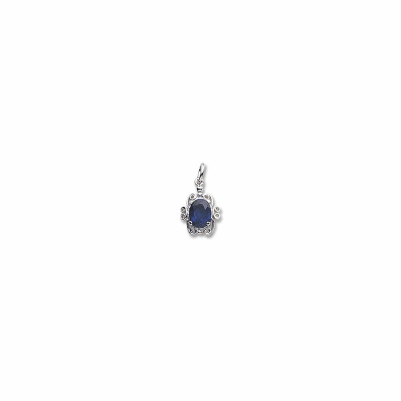 Sterling Silver September Birthstone Charm