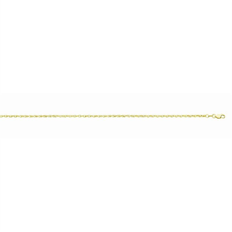 """Yellow Polished 14 Karat Fancy Rope Necklace Length 20"""""""