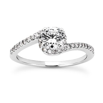 White 14 Karat Ring With 32 Round Diamonds=0.16Tw  G/H Si