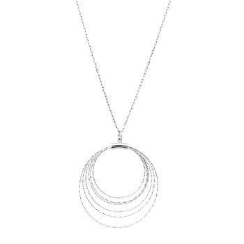 Sterling Silver Diamond Cut Circles Pendant
