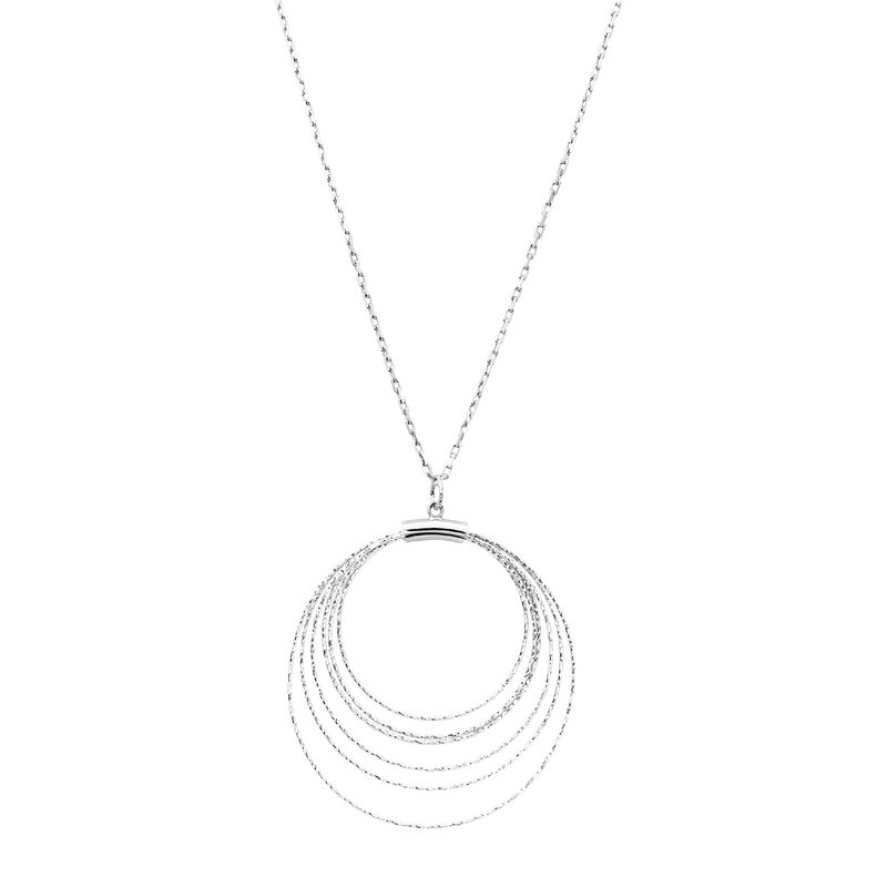 Sterling Silver Diamond Cut Circles Pendant