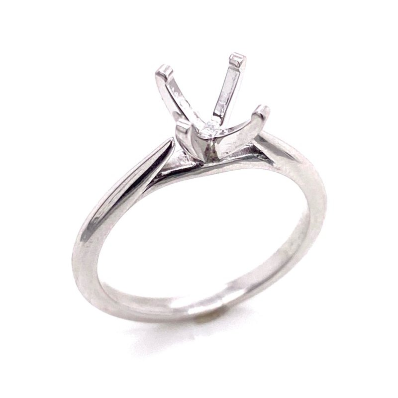 14 Karat White Gold Ring Mounting