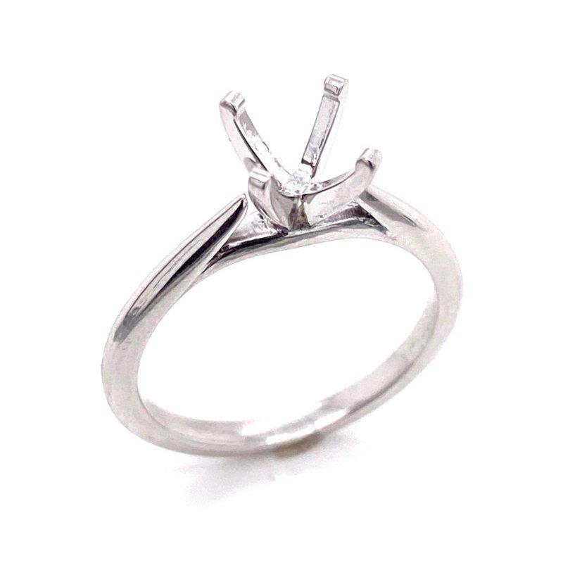 14 Karat White Gold Ring Mounting