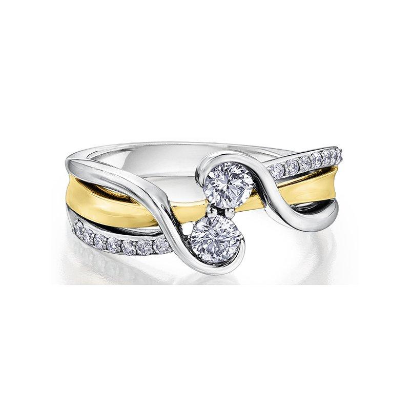Empress Line Two stone diamond ring