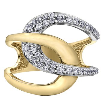 14K Two-Tone Diamond Ring