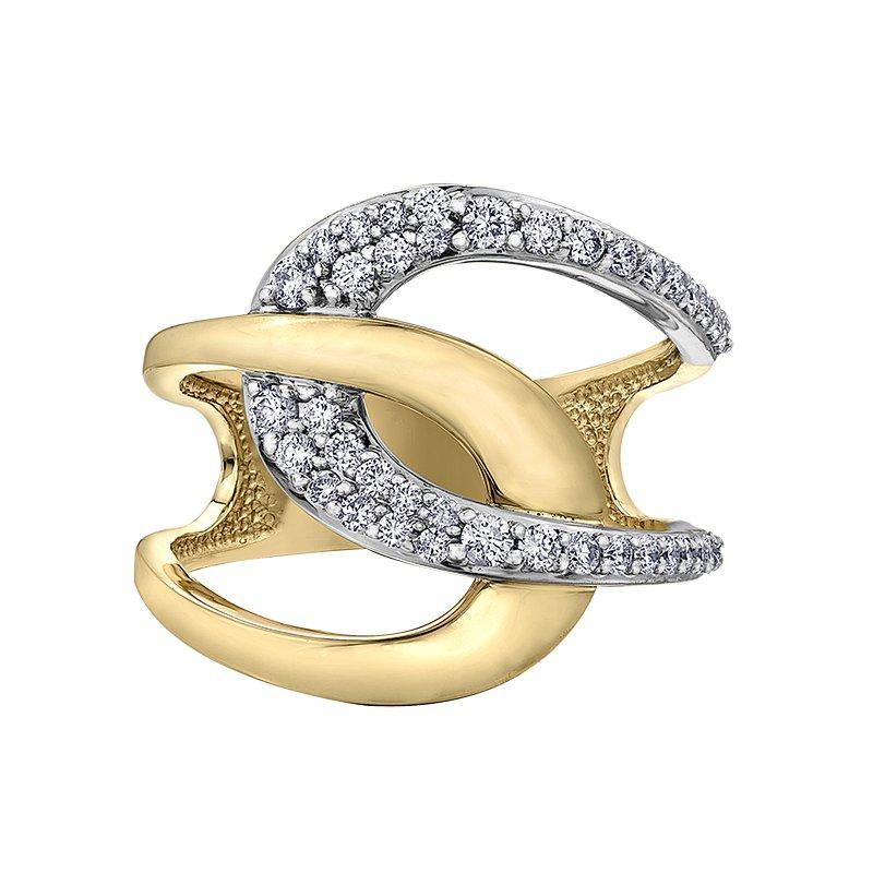 Empress Line 14K Two-Tone Diamond Ring