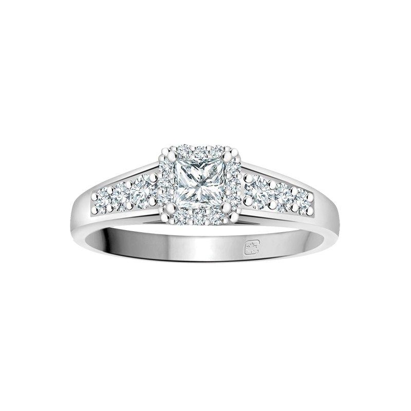 Empress Line Princess Cut Engagement Ring