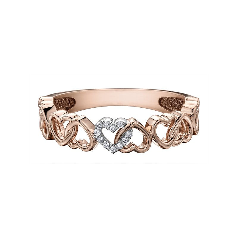 Empress Line Heart cut out ring
