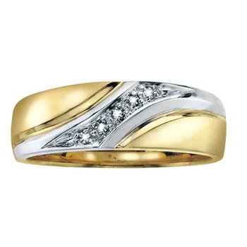 Two Tone Gents Diamond Band