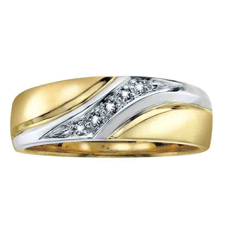 Empress Line Two Tone Gents Diamond Band