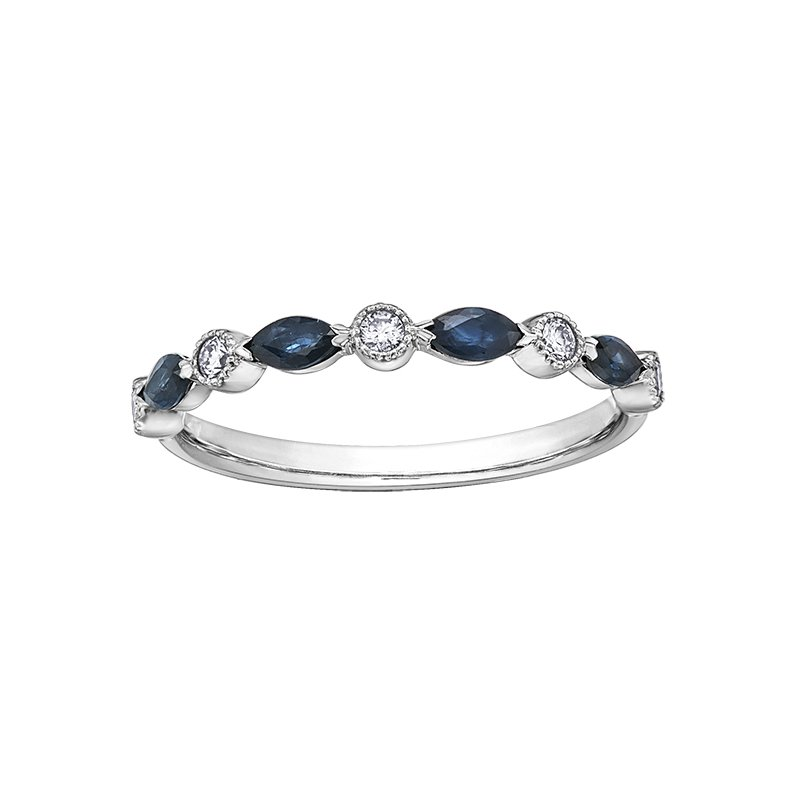 Empress Line Sapphire and Diamond Band